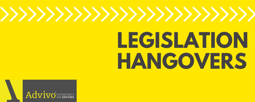 Legislation Hangovers