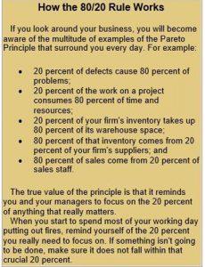 80-20 pareto rule