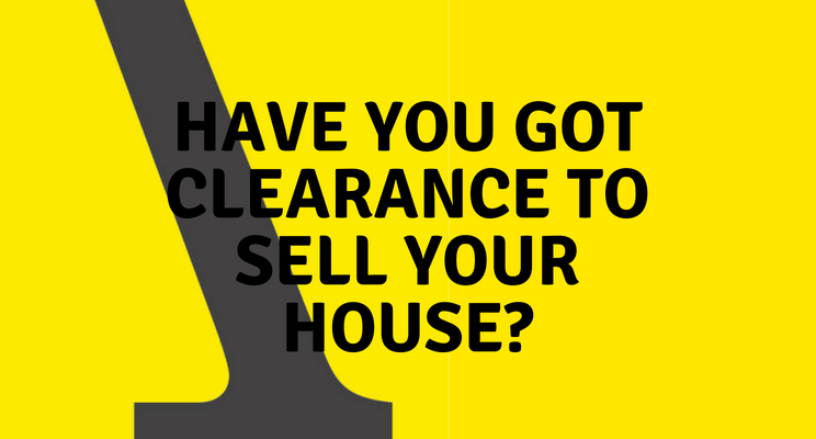 Clearance to sell your house