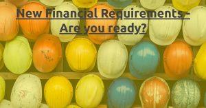 QBCC Minimum Financial Requirements