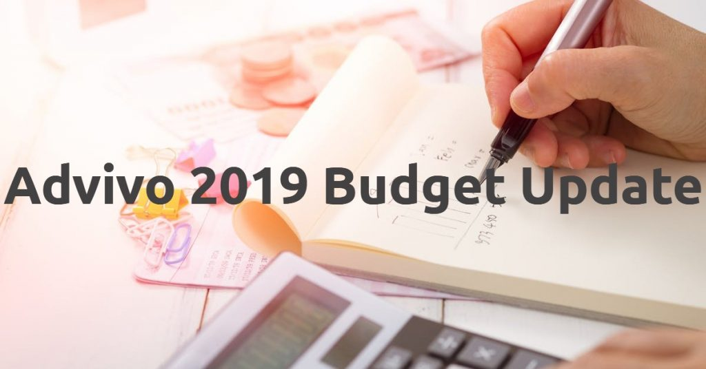 Hand writing in a note about budgeting - 2019 Budget Update Image