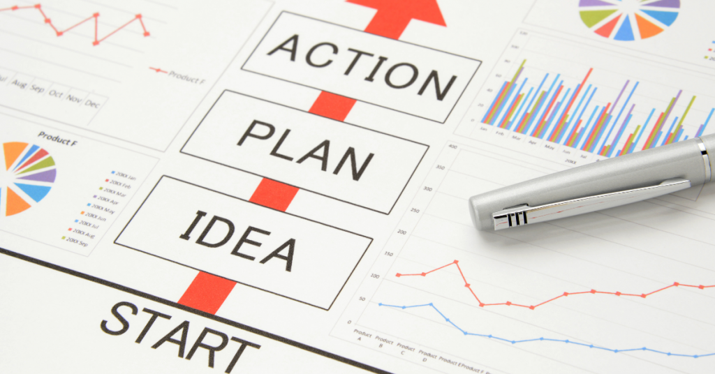 Idea-Plan-Action & Graphs - Why a Business Budget is Necessary - Advivo Business Advisors & Accountants