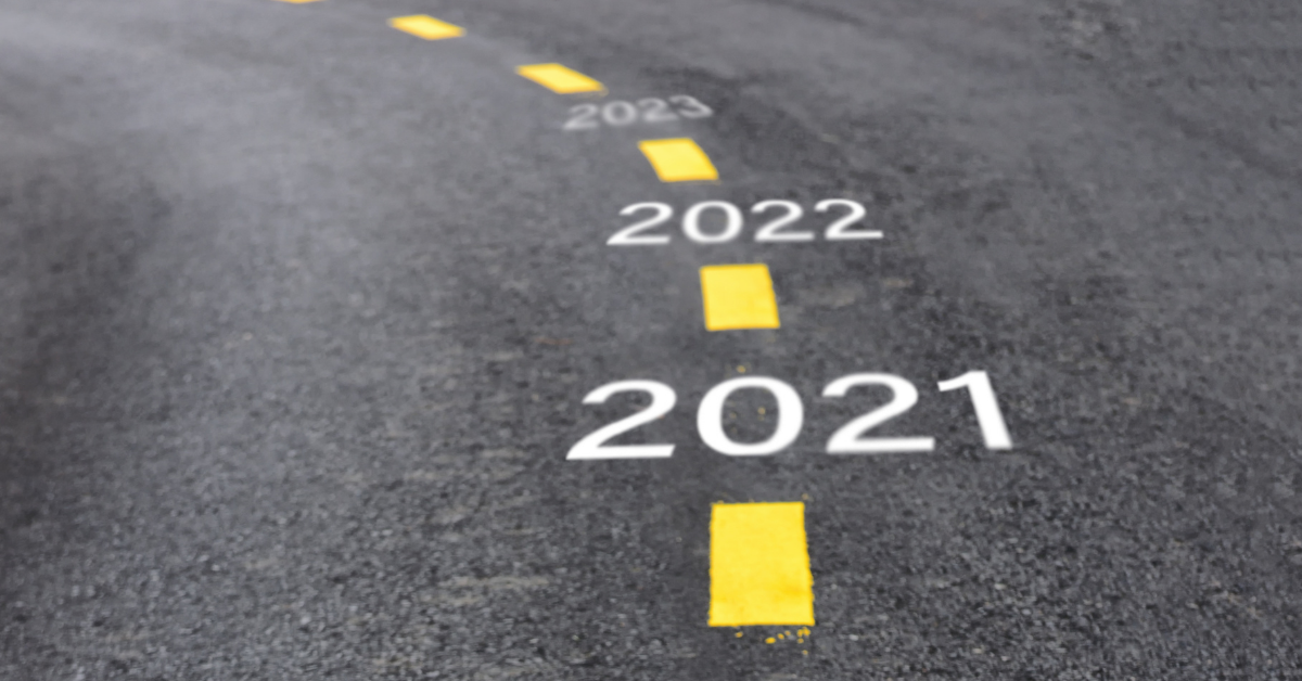 The year 2021 to 2023 written on the road - Superannuation Changes for FY21/22 Image
