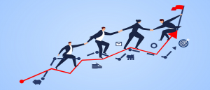 Business people helping each other - July Newsletter Image