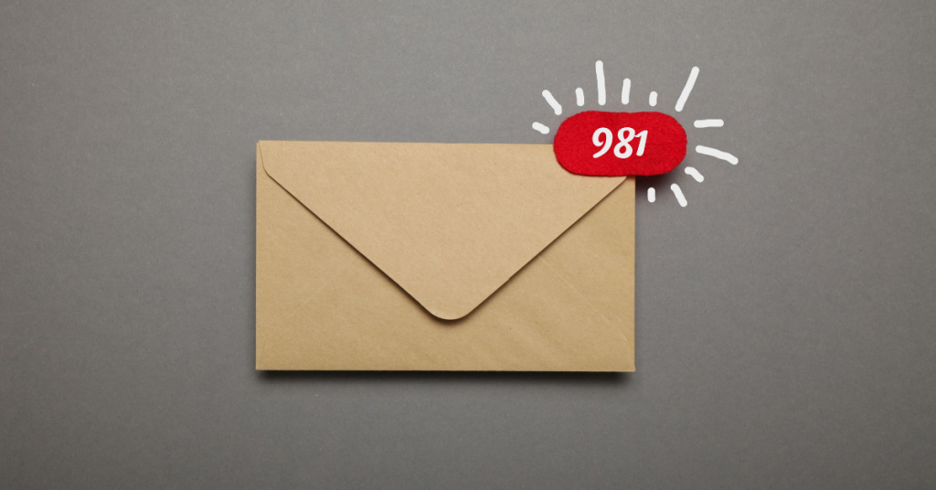 An envelope with 981 messages - ATO changes blog image