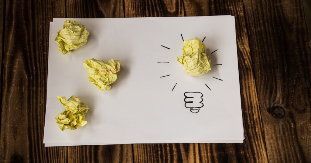 Crumpled Yellow Paper on a White Paper Growth Innovation Advivo Business Advisors & Accountants Blog Image